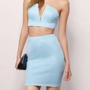 Light blue bodycon skirt